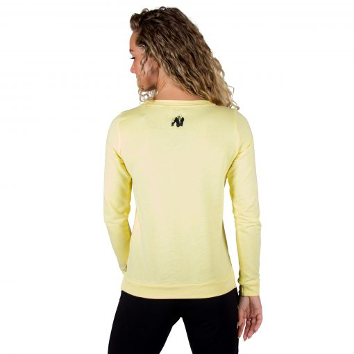 Fitness Sweatshirt Riviera Geel - Gorilla Wear achterkant