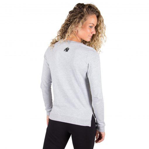 Fitness Sweatshirt Riviera Grijs - Gorilla Wear achterkant