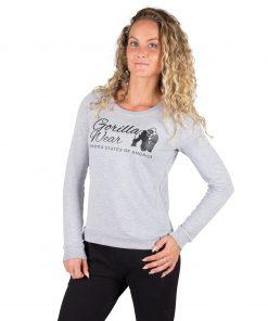 Fitness Sweatshirt Riviera Grijs - Gorilla Wear voorkant