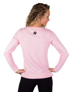 Fitness Sweatshirt Riviera Roze - Gorilla Wear achterkant