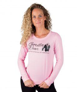 Fitness Sweatshirt Riviera Roze - Gorilla Wear voorkant