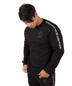 Fitness Sweatshirt Zwart Saint Thomas - Gorilla Wear voorkant