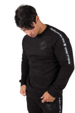 Fitness Sweatshirt Zwart Saint Thomas - Gorilla Wear voorkant