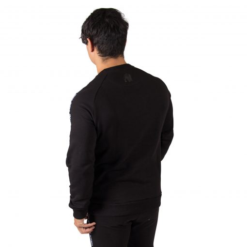 Fitness Sweatshirt Zwart Saint Thomas - Gorilla Wear achterkant