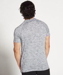 Fitness T-shirt Grijs Zwart Slub - Pursue Fitness achterkant
