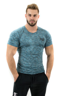 Fitness t-shirt Blauw - Nebbia Aesthetic Warrior 126 1
