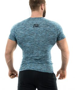 Fitness t-shirt Blauw - Nebbia Aesthetic Warrior 126 2
