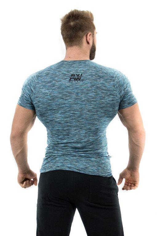 Fitness t-shirt Blauw - Nebbia Aesthetic Warrior 126 2