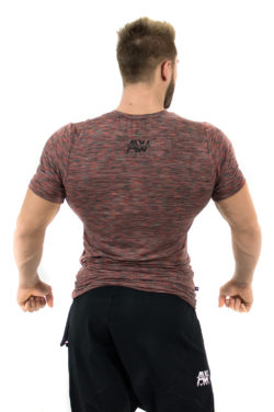 Fitness t-shirt Rood - Nebbia Aesthetic Warrior 126 2