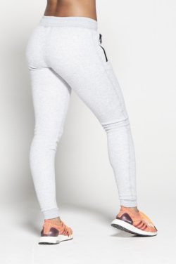 Joggingsbroek Dames Grijs Fleece - Pursue Fitness achterkant