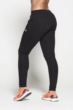 Joggingsbroek Dames Zwart Fleece - Pursue Fitness achterkant