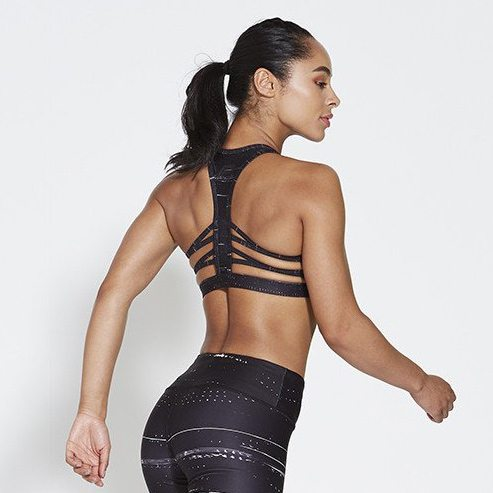 Sport BH Zwart - Pursue Fitness Allure Black Ice achterkant