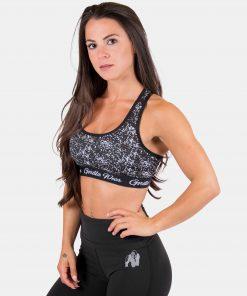 Sport BH Zwart Wit - Gorilla Wear Hanna Sports Bra 1