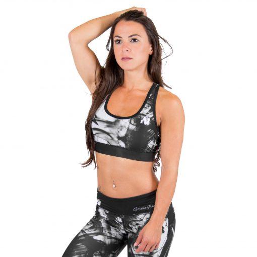 Sport BH Zwart Wit - Gorilla Wear Phoenix Sports Bra 1