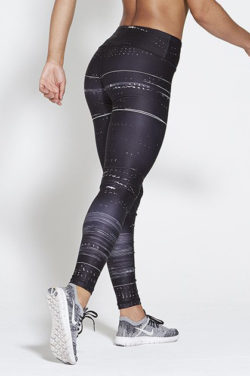 Sportlegging High Waist Zwart - Pursue Fitness Allure Black Ice achterkant