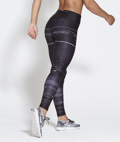 Sportlegging High Waist Zwart - Pursue Fitness Allure Black Ice achterkant