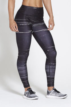 Sportlegging High Waist Zwart - Pursue Fitness Allure Black Ice voorkant