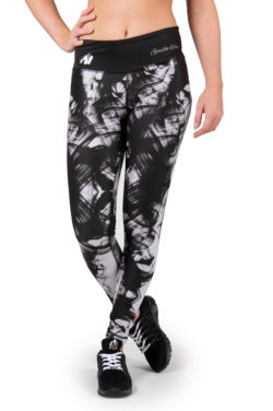 Sportlegging Zwart Wit - Gorilla Wear Phoenix tights-1