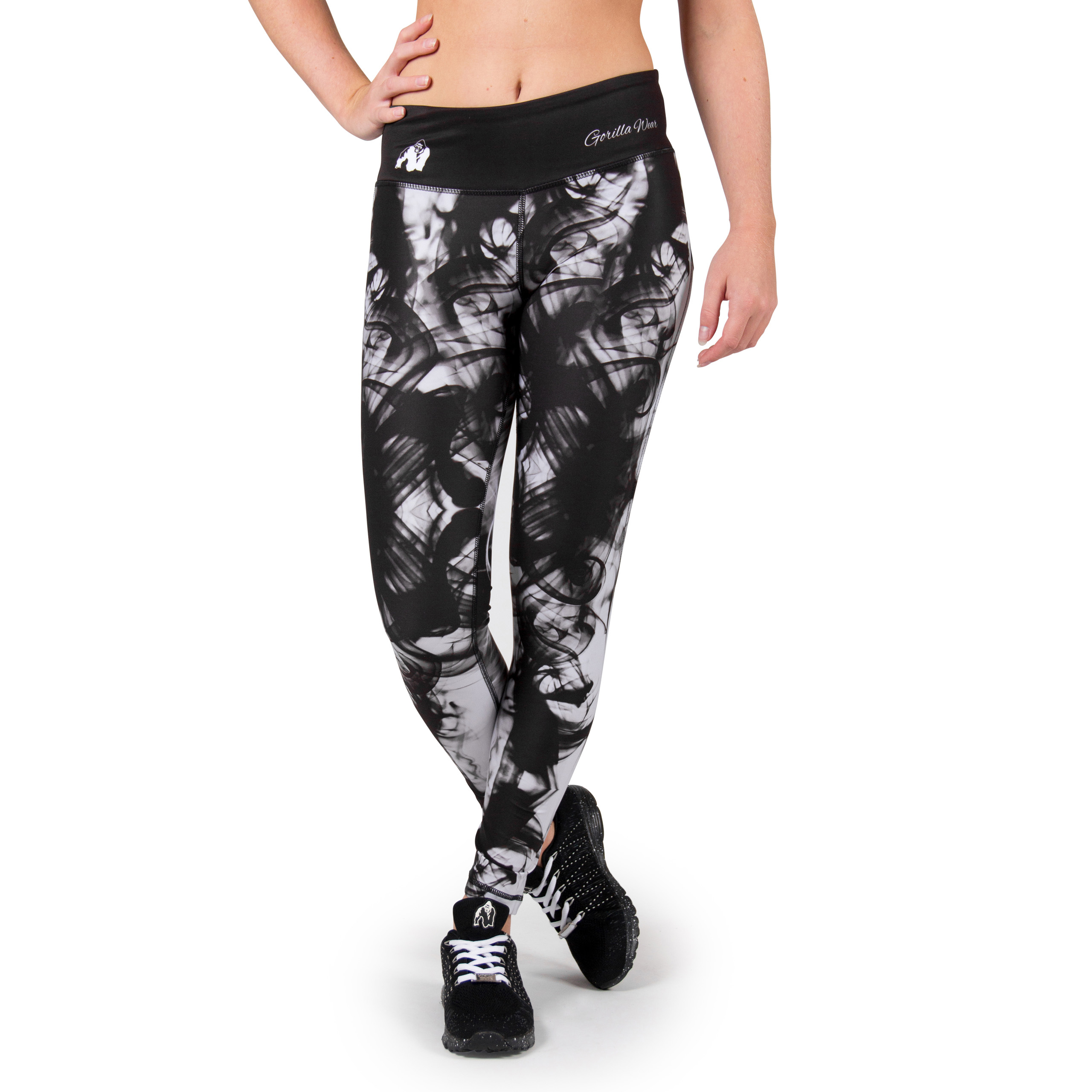 Sportlegging Vrouwen.Sportlegging Zwart Wit Gorilla Wear Phoenix Tights