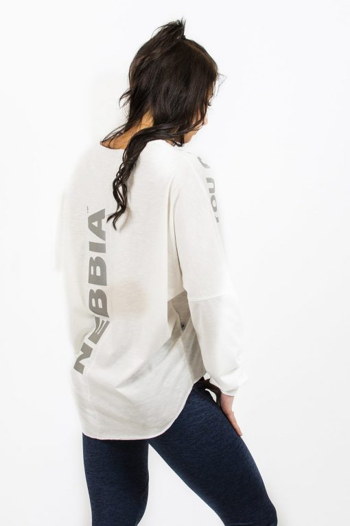Sporttrui Wit Los - Nebbia Oversized Top 290 2