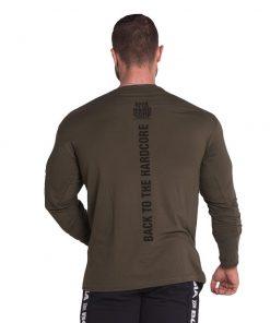 Bodybuilding Longsleeve Kaki Nebbia 341 achterkant