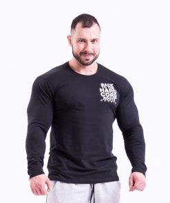 Bodybuilding Longsleeve Zwart Nebbia 341 voorkant