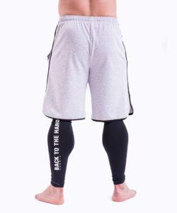 Bodybuilding Shorts Grijs Nebbia 345 achterkant