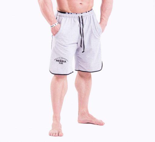 Bodybuilding Shorts Grijs Nebbia 345 voorkant