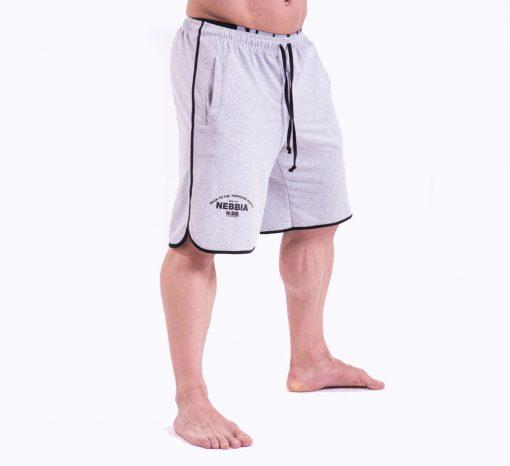 Bodybuilding Shorts Grijs Nebbia 345 voorkant zij