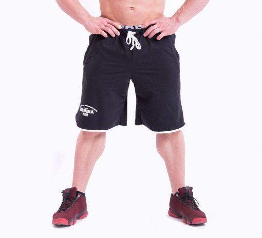 Bodybuilding Shorts Zwart Nebbia 345 voorkant