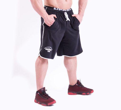 Bodybuilding Shorts Zwart Nebbia 345 voorkant zij