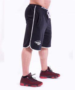 Bodybuilding Shorts Zwart Nebbia 345 zijkant