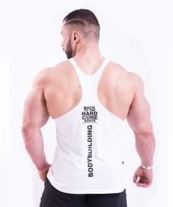 Bodybuilding Singlet Wit Nebbia 399 achterkant