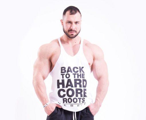 Bodybuilding Singlet Wit Nebbia 399 voorkant