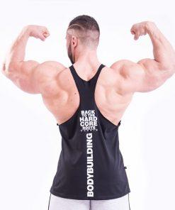 Bodybuilding Singlet Zwart Nebbia 399 achterkant