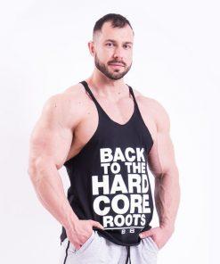 Bodybuilding Singlet Zwart Nebbia 399 voorkant