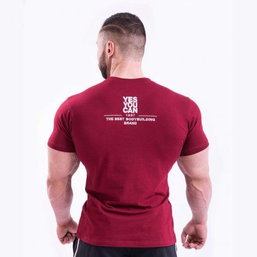 Bodybuilding T-Shirt Rood Nebbia 396 achterkant