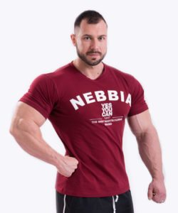 Bodybuilding T-Shirt Rood Nebbia 396 voorkant