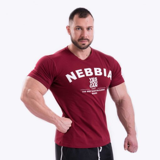 Bodybuilding T-Shirt Rood Nebbia 396 voorkant
