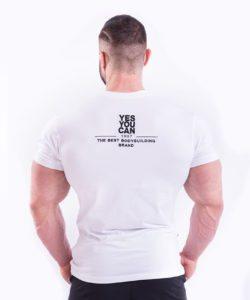 Bodybuilding T-Shirt Wit Nebbia 396 achterkant
