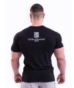 Bodybuilding T-Shirt Zwart Nebbia 396 achterkant