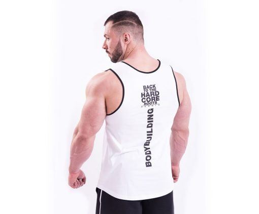 Bodybuilding Tank Top Wit Nebbia 395 achterkant