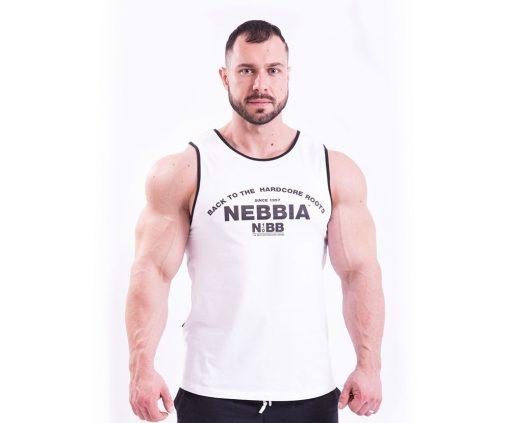 Bodybuilding Tank Top Wit Nebbia 395 voorkant
