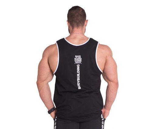 Bodybuilding Tank Top Zwart Nebbia 395 achterkant