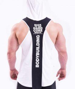 Bodybuilding Tank Top met Hoodie Wit Nebbia 313 achterkant