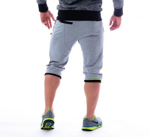 Fitness 3/4 driekwart broek grijs Nebbia - Aesthetic Warrior 125 achterkant