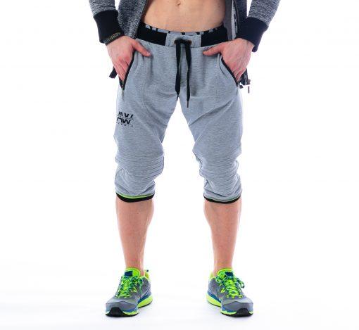 Fitness 3/4 driekwart broek grijs Nebbia - Aesthetic Warrior 125 voorkant