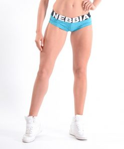 Sportshorts blauw Gemeleerd Nebbia 225 voorkant