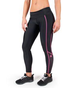 Compressie Legging Zwart Roze Carlin - Gorilla Wear-1