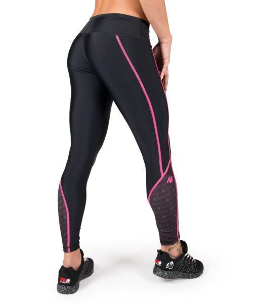 Compressie Legging Zwart Roze Carlin - Gorilla Wear-2